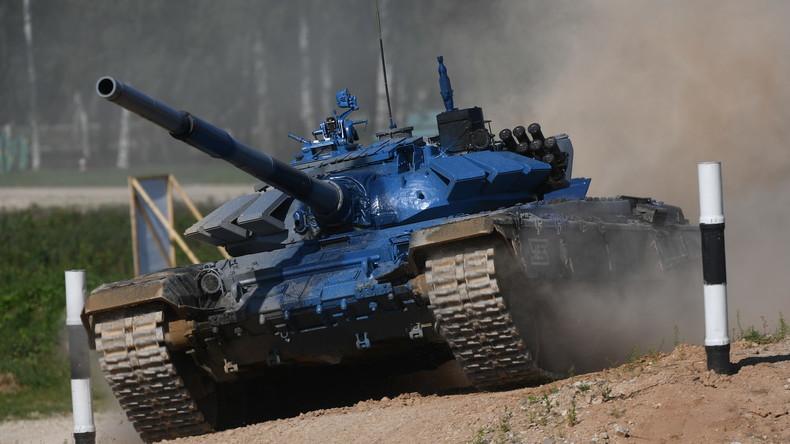 Panzerbiathlon nun auch für Damen erlaubt: Russische Kandidatinnen trainieren schon