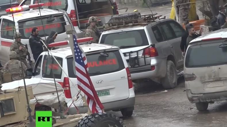 Exklusiv: Bilder nach dem Anschlag gegen US-Soldaten im syrischen Manbidsch