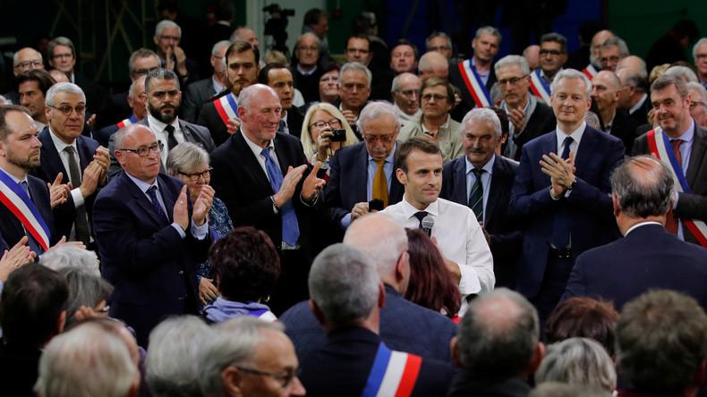 """""""Gelbwesten"""" bleiben draußen: Macron startet  Bürgerdialog, aber nur mit Bürgermeistern"""