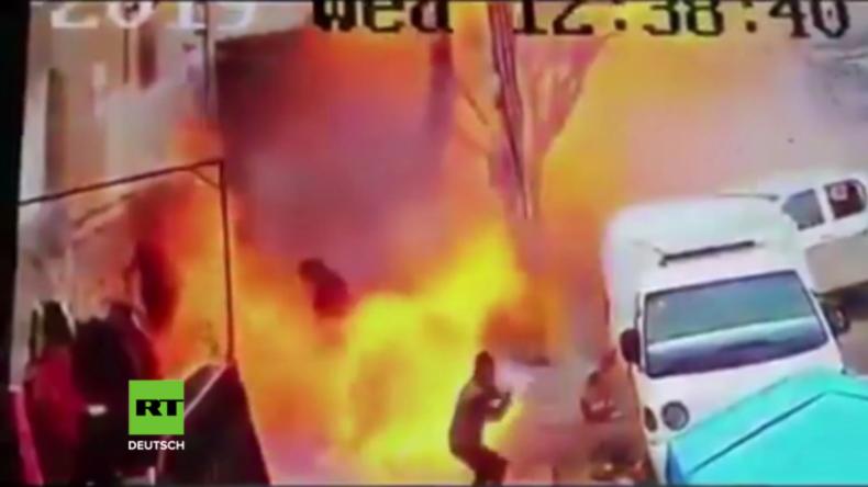 Manbidsch: Videoaufnahme vom Zeitpunkt der Explosion veröffentlicht
