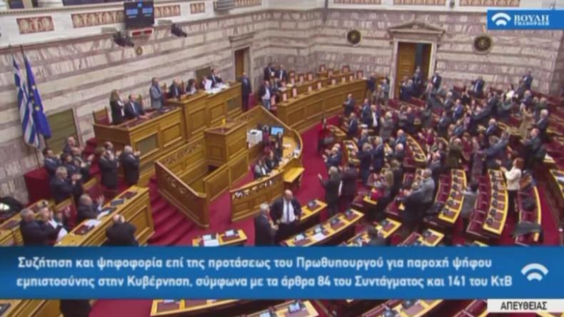 Griechenland: Tsipras gewinnt Misstrauensvotum wegen mazedonischem Namensstreit nur knapp