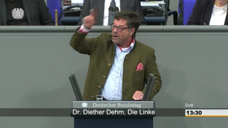 Diether Dehm in Bundestagsdebatte zur AfD: Ausbeutung und Hetze – Sie sind keine Alternative!