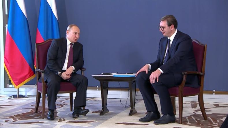 Putin und Vučić diskutieren in Belgrad über Handel und bilaterale Beziehungen