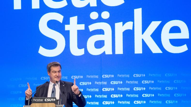 Markus Söder zum neuen CSU-Vorsitzenden gewählt