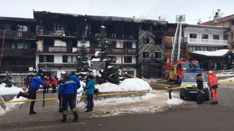 Zwei Tote und vier Schwerverletzte bei Brand in französischem Skiort