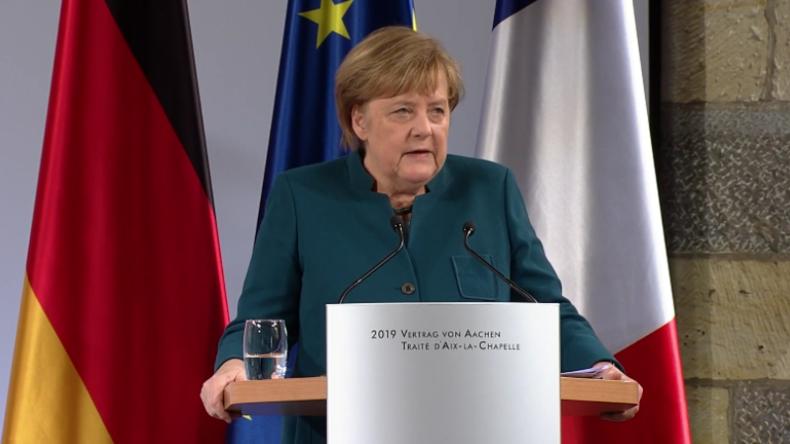 """Merkel zu Aachener Friedensvertrag: Unsere Freundschaft verpflichtet zu gemeinsamer """"Militär-Kultur"""""""