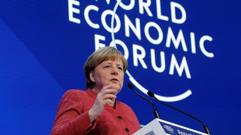 LIVE: Angela Merkel hält Rede auf Weltwirtschaftsforum in Davos