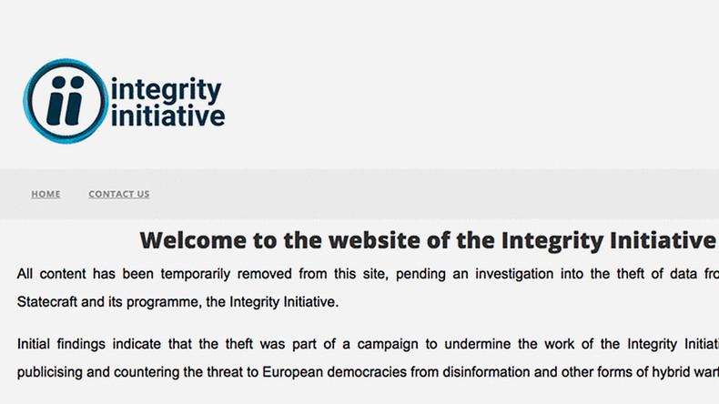 """Integrity Initiative löscht Webseite bis zur Untersuchung des """"Daten-Diebstahls"""""""