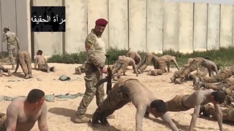 Schüsse zwischen die Beine – Skurriles Training von Sicherheitskräften im Irak