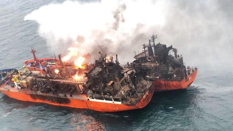 Brand von Tankern vor der Krim - Suche nach Vermissten eingestellt