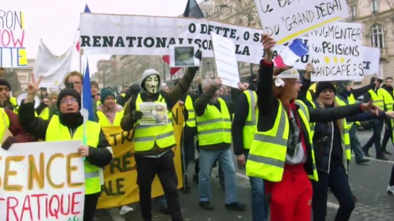 """Frankreich: Gelbwesten bezeichnen Macrons """"Nationale Debatte"""" als Lüge"""