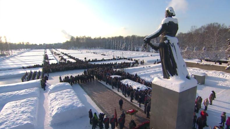 Russland gedenkt der Opfer am 75. Jahrestag der Befreiung Leningrads