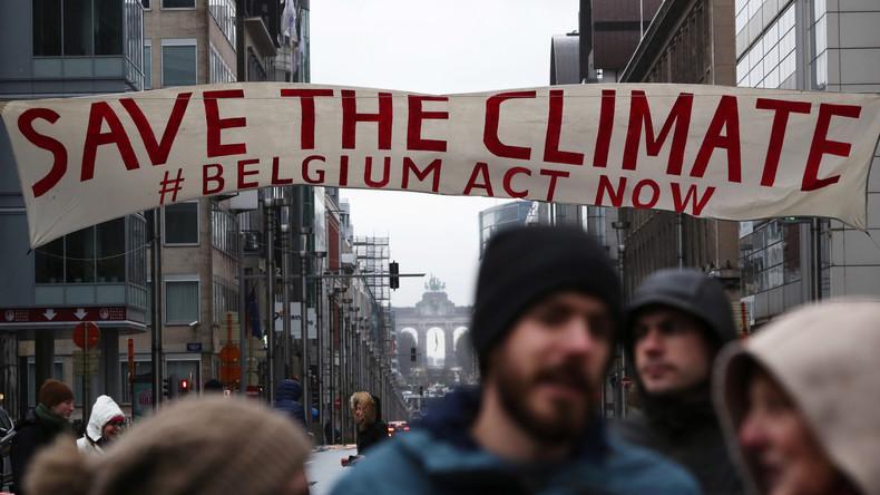 Rund 70.000 Menschen demonstrieren in Brüssel für Klimaschutz