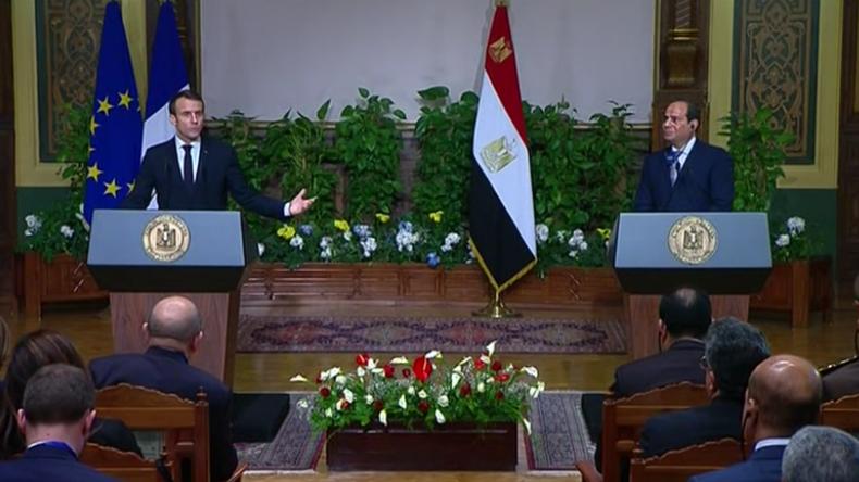 Kairo: Macron kritisiert Ägypten für Menschenrechtsbrüche und verteidigt Vorgehen gegen Gelbwesten
