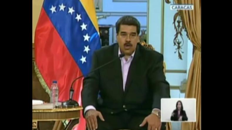 """Venezuelas Präsident Maduro hält Ansprache an Trump: """"Hände weg von unserem Land!"""""""