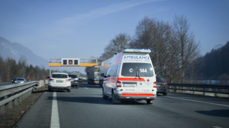 Vier Schwerverletzte aus Deutschland bei Verkehrsunfall in Österreich