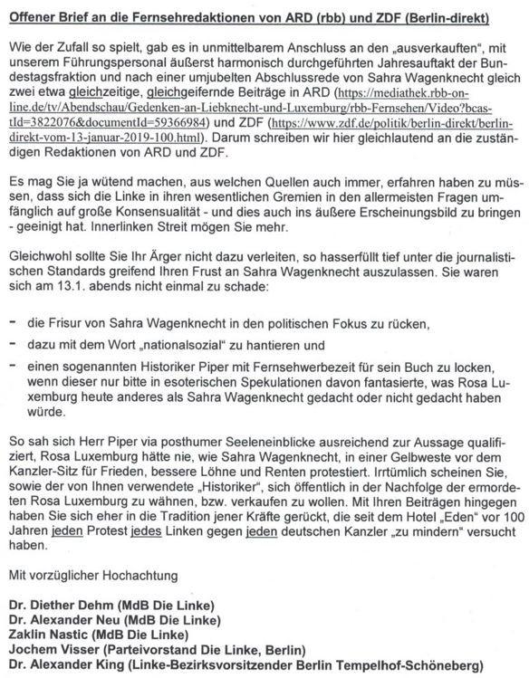 """Harmonie beim Jahresauftakt der Linksfraktion verärgert """"Qualitätsmedien"""""""