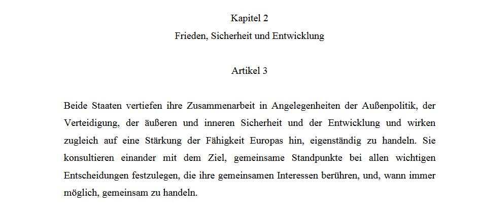 Der Vertrag Von Aachen Frankreich Und Deutschland Formen