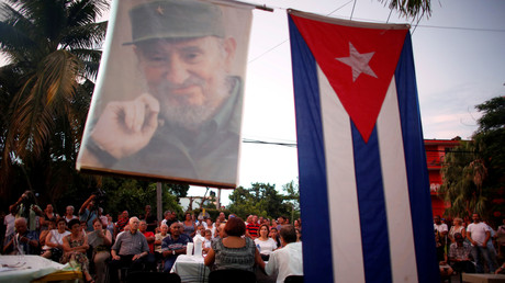 Kubaner während einer öffentlichen politischen Diskussion über die Verfassungsreform, Havanna, Kuba, am 13. August 2018.