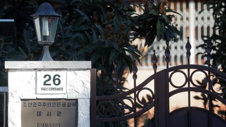 Eingang zur nordkoreanischen Botschaft in Rom, Italien, 3. Januar 2019.