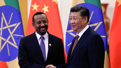 Der äthiopische Premierminister Abiy Ahmed und der chinesische Präsident Xi Jinping, Peking, China, 2. September 2018.