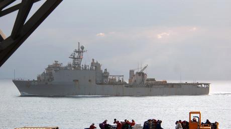Das Kriegsschiff USS Fort McHenry