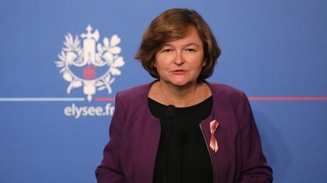 Ministerin Nathalie Loiseau spricht im Pariser Schloss Élysée zu Medienvertretern, 3. Oktober 2018.
