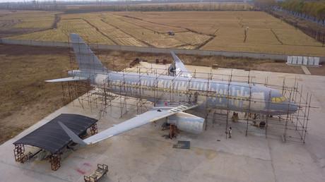 Modellbau im großen Stil: Chinese baut Airbus A320 in Originalgröße nach