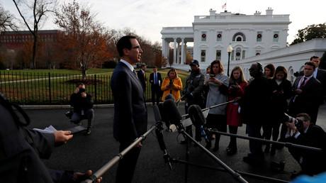 US-Finanzminister Mnuchin spricht vor Reportern