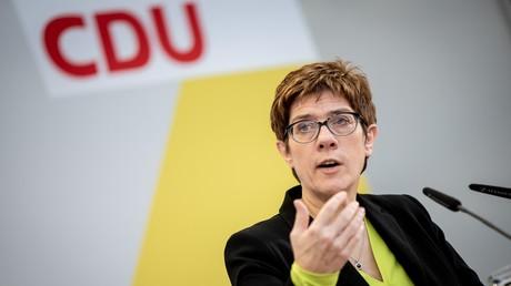Annegret Kramp-Karrenbauer am 14. Januar bei der CDU-Vorstandsklausur in Potsdam, Brandenburg. Nach 18 Jahren Angela Merkel ist sie nun die neue mächtige Frau der CDU.