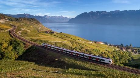 Vorbild: Zug der SBB am Genfersee