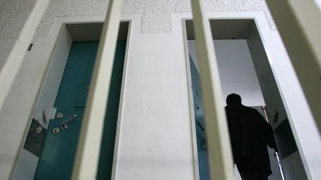 Gefängniszelle in Neuburg, Deutschland,3. Januar 2008.
