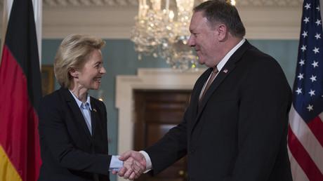 Bundesverteidigungsministerin Ursula von der Leyen am 20. Juni 2018 zu Besuch in Washington. Mit ihrem Meinungsartikel versucht sie, die US-Regierung davon zu überzeugen, wie wichtig die NATO für Deutschland ist.