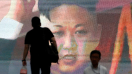 Bildschirm in Tokio mit Nachrichten über einen nordkoreanischen Raketentest, Japan, 4. Juli 2017.
