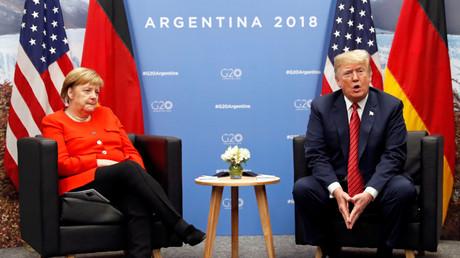 Angela Merkel und Donald Trump beim G-20 Gipfel in Buenos Aires, Argentinien, 1. Dezember 2018.
