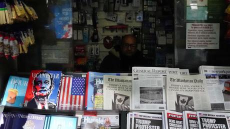 Ein Zeitungskiosk mit