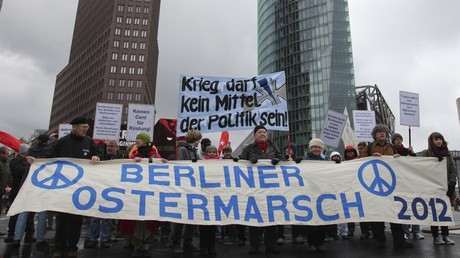 Nicht besonders zahlreich besucht: der Berliner Ostermarsch für Frieden und Abrüstung