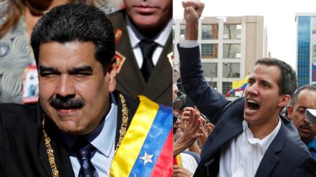 Der amtierende venezolanische Präsident Nicolás Maduro und der selbsternannte Präsident Juan Guaidó.