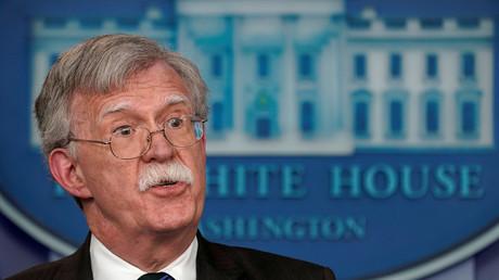 Der nationale Sicherheitsberater von US-Präsident Donald Trump, John Bolton, spricht während einer Pressekonferenz im Weißen Haus in Washington, 27. November 2018.