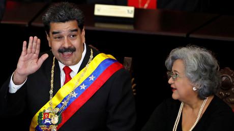 Venezuelas Präsident Nicolas Maduro während der Eröffnung des Gerichtsjahres beim Obersten Gerichtshof (TSJ) in Caracas, 24. Januar 2019.