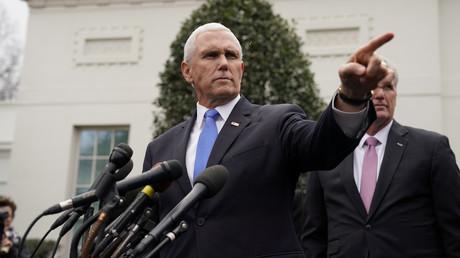 US-Vizepräsident Mike Pence bei einer Pressekonferenz im Weißen Haus, 9. Januar 2019