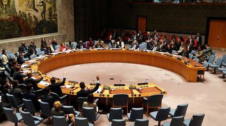 Mitglieder des UN-Sicherheitsrates stimmen über eine Resolution zur Sicherheit Jemens im UN-Hauptsitz im Bezirk Manhattan in New York City ab, 21. Dezember 2018.
