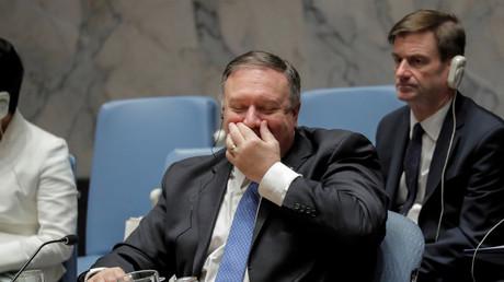 US-Außenminister Mike Pompeo, UN-Sicherheitsrat, New York, USA, 26. Januar 2019.
