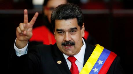 Der venezolanische Präsident Nicolas Maduro während der Vereidigung für eine zweite Amtszeit, Caracas, Venezuela, 10. Januar 2019