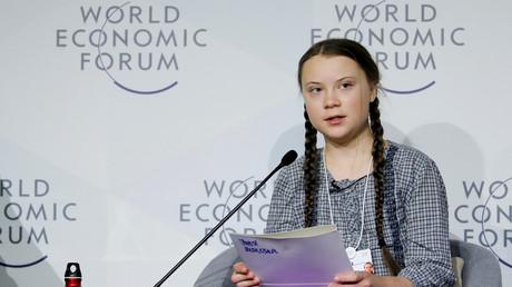 Greta Thunberg auf dem Weltwirtschaftsforums in Davos, Schweiz, 25. Januar 2019.
