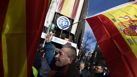 Die Zentrale der konservativen Volkspartei Spaniens (PP) in der Hauptstadt Madrid. Ihre direkte Vorläuferpartei Alianza Popular wurde von Kadern der faschistischen Franco-Diktatur gegründet. Das Erbe des Franquismus prägt die spanische Rechte bis heute – und damit das ganze Land.