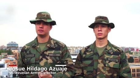 Vermeintliche Überläufer: Carlos Guillen Martinez und Josue Hidalgo Azuaje (Quelle: Screenshot CNN
