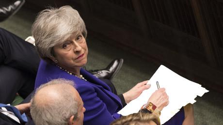 Die britische Premierministerin Theresa May im britischen Unterhaus am 30. Januar 2019.
