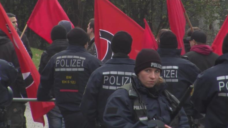 AfD-Protest gegen Dieselverbot trifft in Stuttgart auf Antifa