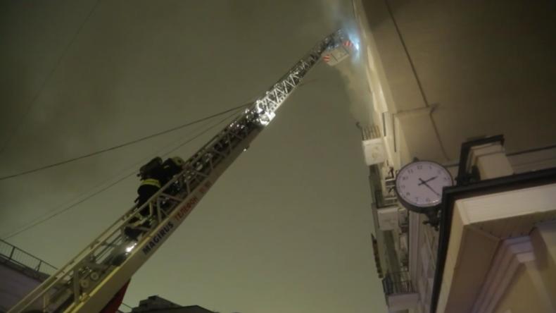 Russland: Mindestens acht Tote nach Brand in historischem Gebäude im Zentrum Moskaus